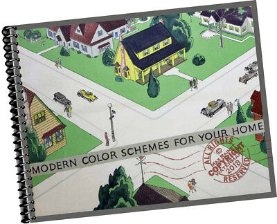 1929 Modern Color Schemes for Your Home EXT + INTERIOR Paint Architects CATALOG