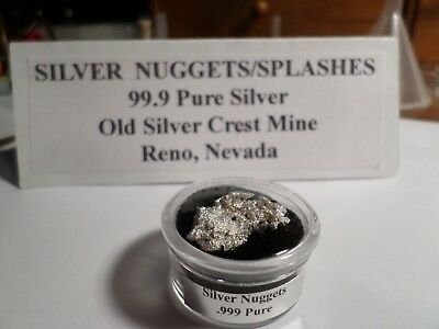 PURE NEVADA SILVER  CRYSTALLINE NUGGETS/SPLASHES 5.537 Grams Total