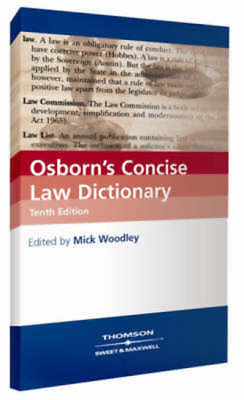 Osborn's concise law dictionary by M. G Woodley (Paperback / softback)