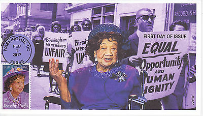 Jvc Cachets - 2017 Dorothy Height First Day Cover Fdc Black Heritage Style #3