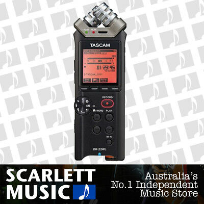 Tascam DR-22WL 2 Channels Portable Handheld Audio Voice Recorder w/Wi-Fi