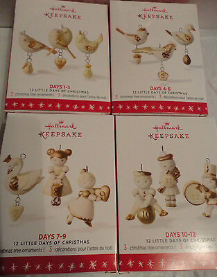 Hallmark 2016 12 Little Days of Christmas PORCELAIN 1-3 4-6 7-9 10-12 NEW $99.80