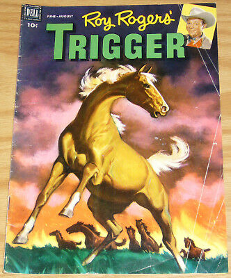 Roy Rogers' Trigger #5 VG+ june-august 1954 - golden age dell comics western