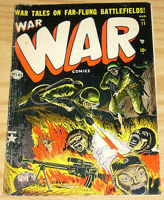 War Comics #11 VG august 1952 - graphic flame thrower with burning bodies cover