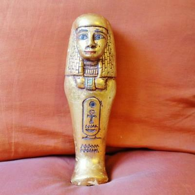 RARE Antique Egyptian Ushabti of Ancient Middle Kingdom Funerary Statue Figurin