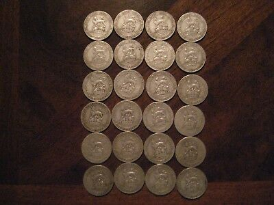 Great Britain Shilling Lot  Sterling Silver 92.5% (All coins 100+ years old)
