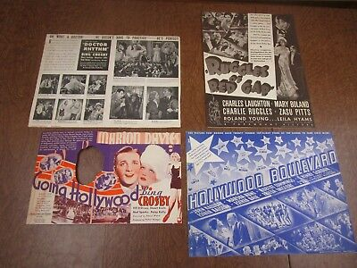 Vintage  lot of 4 colbert ,  1930's & 40's  Movie Paper Flyers