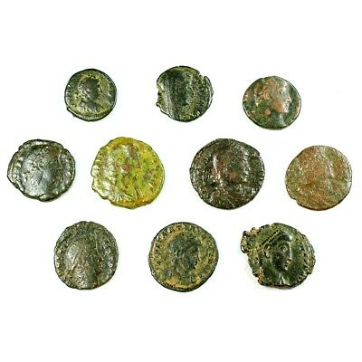 Ten (10) Nicer Ancient Roman Coins c. 100 - 375 A.D. Exact Lot Shown rm2937