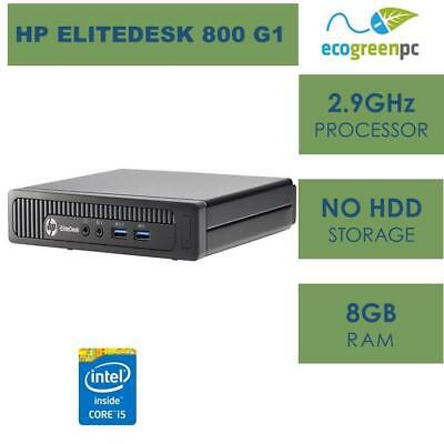 HP ELITEDESK 800 G1 DM, i5-4570T(2.9GHz), 8GB, NO HDD,NO OS,WIN 8 COA, E3 1200v3