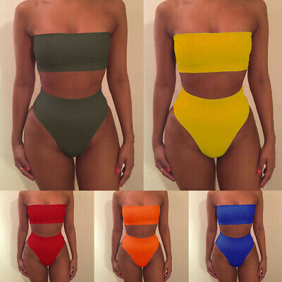 Women Bikini Set Push-up Padded Bra Swimsuit Swimwear Beachwear Bathing Suit