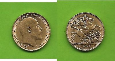 1/2 Sovereign Edward Gold 1909