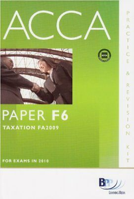 ACCA - F6 Tax FA2009: Revision Kit,BPP Learning Media