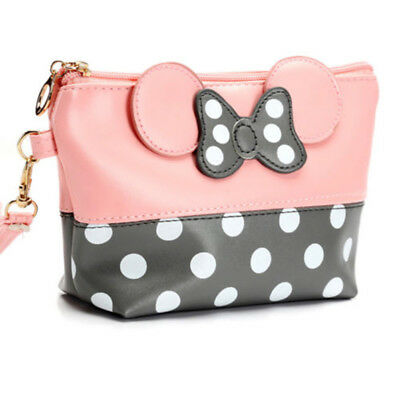 Fashion Women Handbags Mickey Mouse Makeup Bag Mini Cute PU Leather Purse