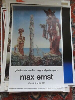 Max Ernst Affiche de 1975 Galeries Nationales du Grand Palais.
