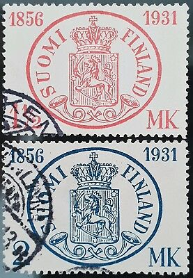 Finland 1931 Sc # 182 Sc # 183 75th Anniversary of Postage Used Stamps Set