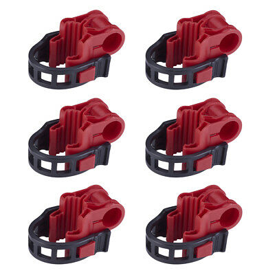 """6 Bicycle Bike Rack 1-1/4""""&2"""" Hitch Mount Carrier Car Truck AUTO SUV Red&Black"""