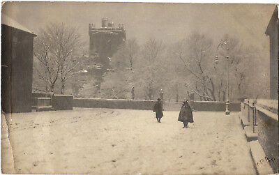 Ayr, St. John's Tower from Citadel Place, old RP postcard by Bara, unposted
