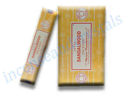 SANDALWOOD by Satya/Shrinivas 2 x 15g Packs premium Incense Sticks