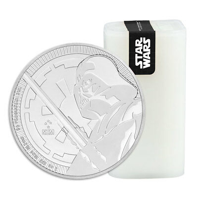 Roll of 25 - 2018 Niue Star Wars Darth Vader 1 oz Silver $2 BU SKU54578