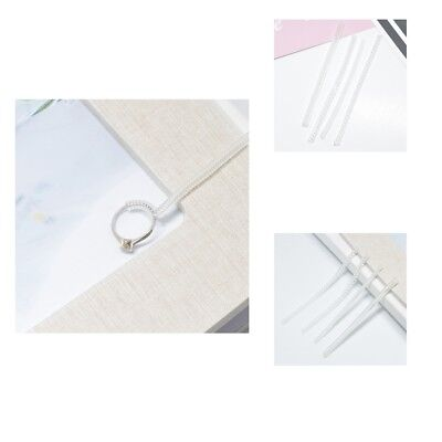 8pcs Invisible Ring Sizers Jewelry Size Reducer Guard Adjuster Resizer Tool