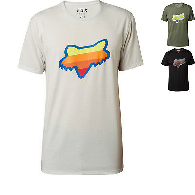 Fox Racing Draftr Head Short Sleeve Tech T-Shirt Mens Crewneck Casual Wear Tee