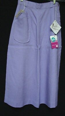 1950s 60s NOS EMMY RICHARDS PURPLE RAYON A LINE SKIRT
