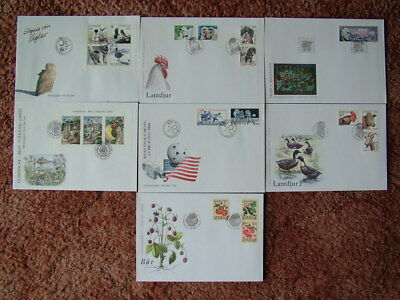 SWEDEN - 7 FIRST DAY COVER ENVELOPES. 1994 & 1995. Near Mint condition.