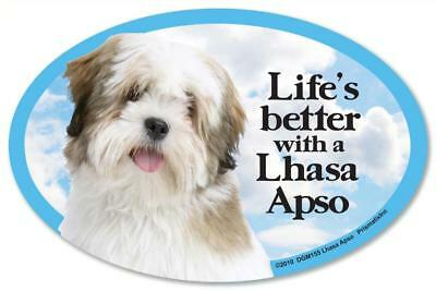 Life's Better With A Lhasa Apso Dog Car Fridge Plastic Magnet
