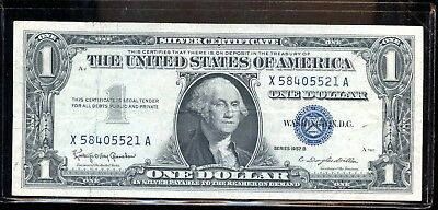 1957-B $1 U.S. Silver Certificate Note - Circulated Paper Currency - FX497