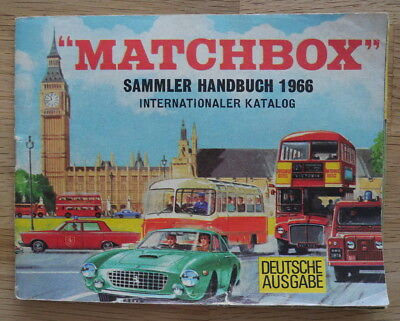 Matchbox Lesney Internationaler Catalog Catalogue Katalog, 1966 Deutsche Ausgabe
