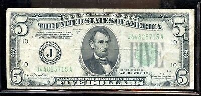 Wonderful 1934-D United States Federal Reserve $5 Note FX511