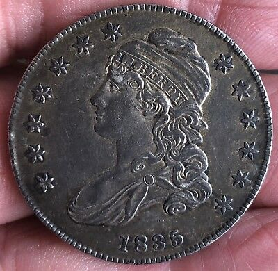 1835 Capped Bust Silver Half Dollar Nice Coin Deeply Toned 50 Cents