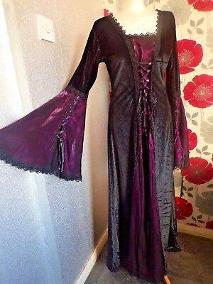 Vintage Quality Ex Theater Medieval Gothic  Style Dress  Size 14/16