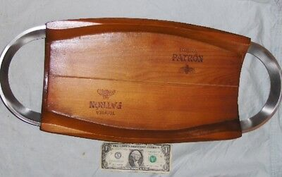 """PATRON TEQUILA Large 23"""" Wood with Aluminum Handles DISPLAY SERVING TRAY"""