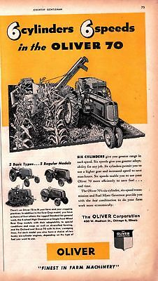 1947 Country Gentleman Magazine Advertisment Oliver 1 Page AD A443