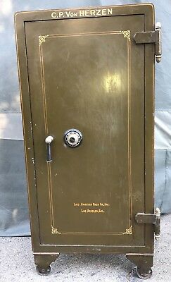 Rare ANTIQUE CARY SAFE guns Personal Jewelry Business Safe Vault rare Floor Old