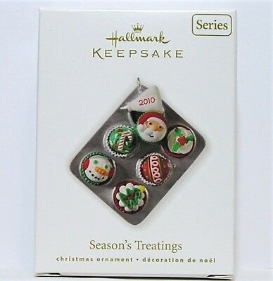 Hallmark 2010 Season's Treatings Ornament #2 In Series Christmas Cupcakes
