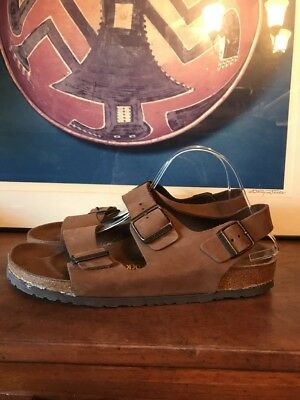 Mens Birkenstock Tatami Nebraska Navy Blue Oiled Leather
