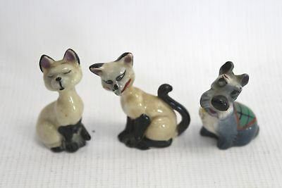 3 Pcs Set of WADE WHIMSIES Lady & The Tramp SIAMESE CATS & JOCK  - W58