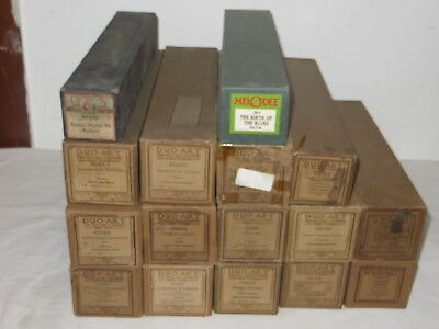Lot Of 16 Vintage Duo Art - Q R S - Melodee Piano Rolls
