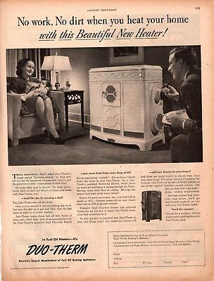 1947 Country Gentleman Magazine Advertisement Duo-Therm Heater 1 Page AD A458