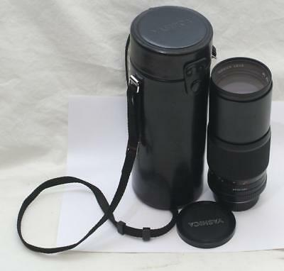 Vintage Yashica ML 300mm 1:5.6 C Camera Lens Contax Fit + Case