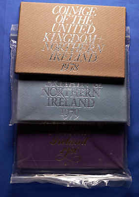 3 PC Set. Coinage of the United Kingdom & Northern Ireland 1978, 1979, 1980