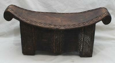 Attractive Antique African Carved Wooden Tribal Headrest #2