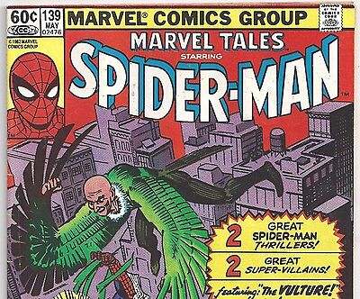 The AMAZING SPIDER-MAN #2 Reprint in Marvel Tales #139 from May 1982 in VG