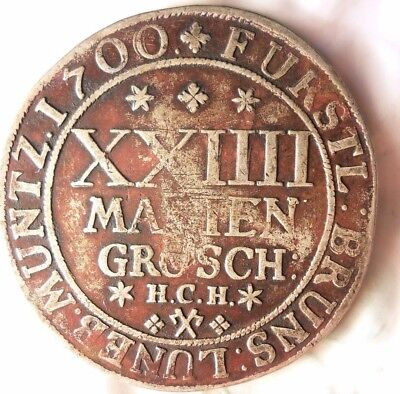 1700 GERMAN STATES (HANNOVER-BRUNSWICK) 24 GROSCHEN - Rare Silver Coin -Lot #718