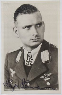 Hanns-Joachim ''Hajo'' Herrmann WW II Knights Cross Recipient Signed Photograph