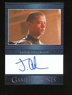 2014 HBO Game Of Thrones Jacob Anderson Signed AUTO Autograph