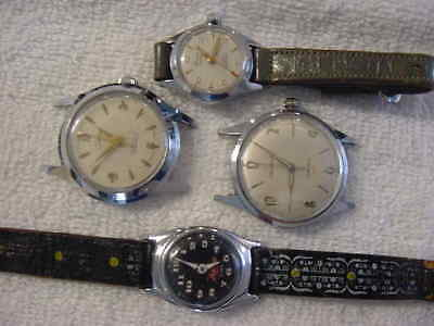 Lot of 5 Vintage antique Art Deco HELBROS ZORRO BULOVA + watch watches