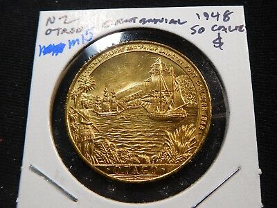 M15 New Zealand 1948 Otago Centennial So-Called Dollar